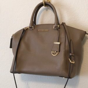Michael Kors Taupe leather satchel